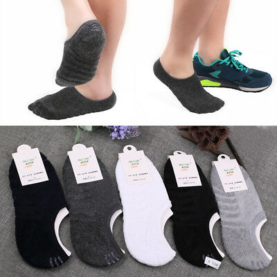 Men Comfortable Cotton Sock Silica Gel Anti Skid Sport Invisibility Ankle Socks