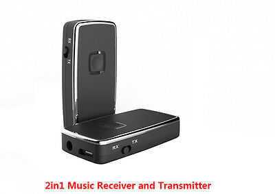 2in1 Wireless A2DP Bluetooth Stereo Music Audio Receiver and Transmitter Adapter