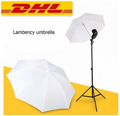 "33""/83cm Fotos Video Studio Flash Blitz Licht Regenschirm Translucent Weiß I4"
