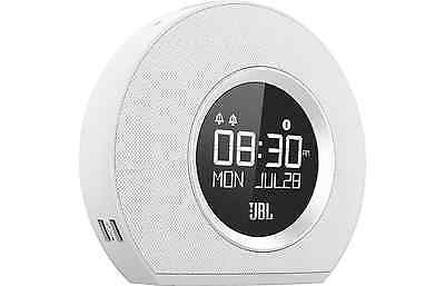 New Jbl Horizon Alarm Clock With Bluetooth (White)