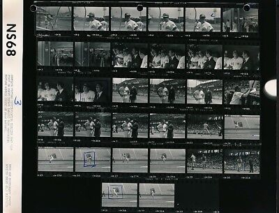 1969 Original CONTACT SHEET Photo SANDY KOUFAX, JOHNNY BENCH  Reds CROSLEY FIELD