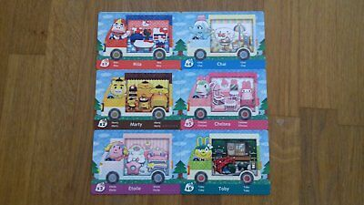Animal Crossing New Leaf Welcome Amiibo Sanrio Collaboration Pack all 6 Cards EU