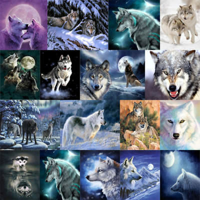 5D DIY Diamond Painting Animal Wolf Embroidery Home Decro Cross Crafts Stitch
