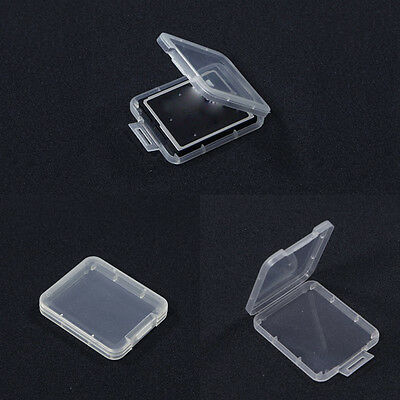 10x Clear Standard  CF Memory Card Cases Holders Box Storage Plastic FT
