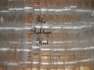 Empty Clear/Plastic Ribbon Spools-For 15mm Ribbon-Holds 20 metres of Ribbon