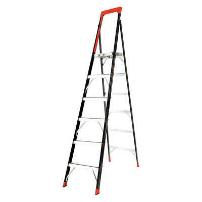 LITTLE GIANT Stepladder,Fiberglass,8ft. Ladder Height, 15288-001