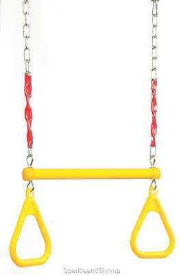 Trapeze with grip handles play equipment swing accessories