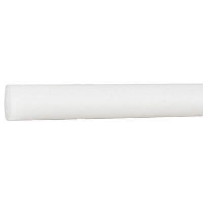 POLYMERSHAPES 22JM45 Rod Stock,Polyvinyl Chloride,1In.,48In.