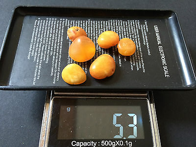 Natural antique Baltic amber stone beads #7475