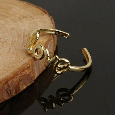 NEW Love Toe Ring Adjustable Silver Gold Foot Jewelry Beach Women Fashion Gift