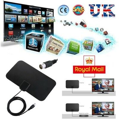 UK HD High Definition TV Fox HDTV DTV VHF Scout Style Cable New Super Antenna