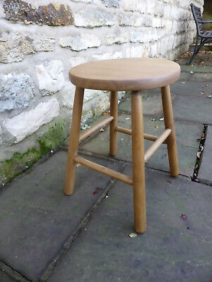 Vintage Round Top Beech Stool