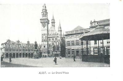 carte postale -Alost - CPA - La grand Place
