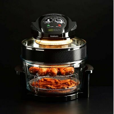 Tower T14001 1300w 17L Airwave Low Fat Air Fryer/Halogen Cooker in Black - NEW