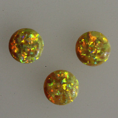 24MM Round Shape Fire Opal Cabochons, Sparkling Calibrated Cabochons AG-259
