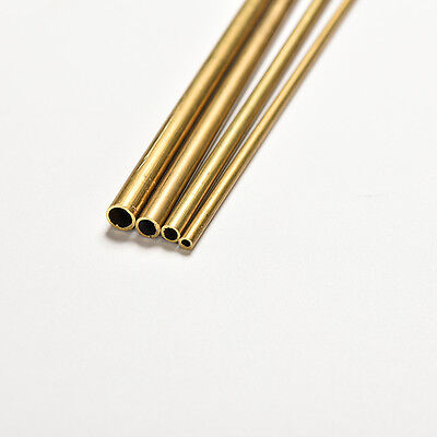 Brass Tube Pipe Tubing Round Inner 2mm 3mm 4mm 5mm Long 300mm Wall FT
