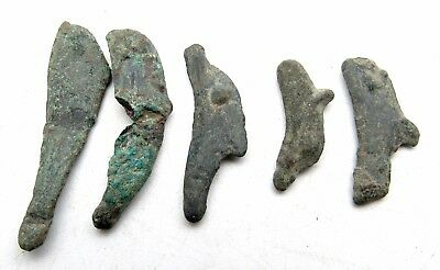 Lot Of 5 Bronze Proto Money - Dolphins- Currency -Olbia - P998