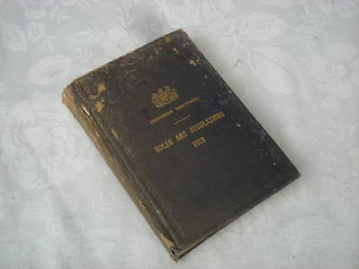 Vintage Book RULES AND REGULATIONS 1919 - VICTORIAN RAILWAYS, Train, VR, Vicrail