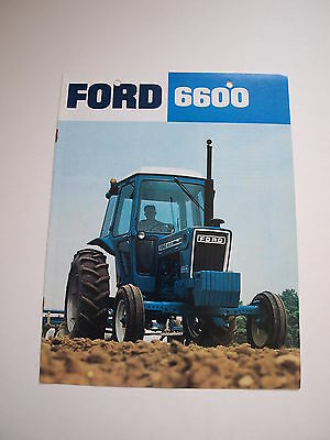 Ford 6600 Tractor w/ Cab Color Brochure 8 pg. original vintage '77 MINT