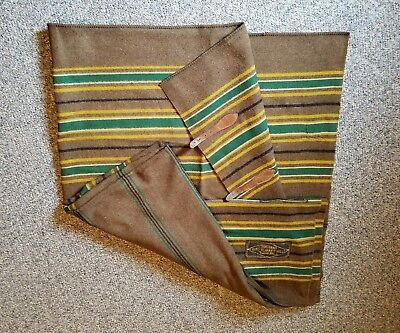 """Antique Early 1900's Northern Ohio Blanket Mills Wool Horse Blanket 84"""" x 88"""""""