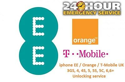 IPhone 6, 6+ Plus Unlocking Service for EE / Orange / T-Mobile UK (Fast Service)