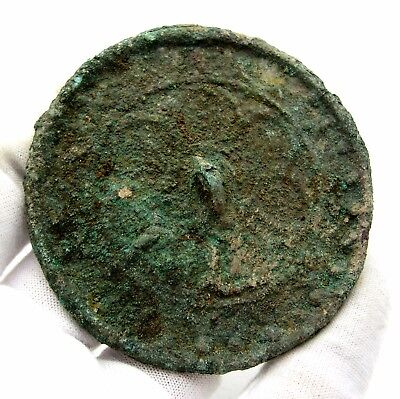 Medieval Decorated Pewter Mirror - Historic Artifact Stunning - Q24