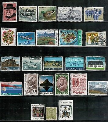 Lot 4583 - Iceland selection of twenty four (24) used stamps