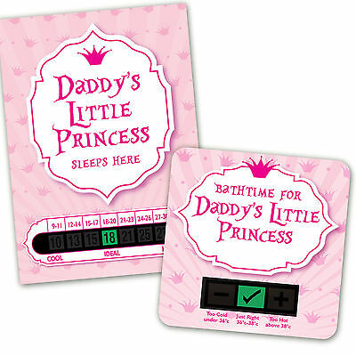 Baby Bath & Room Thermometer - Daddys Little Princess Set