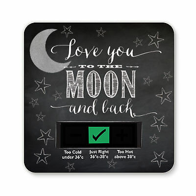 Baby Bath Thermometer - To The Moon And Back Design