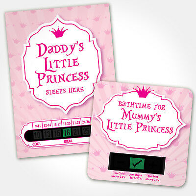 Baby Bath & Room Thermometer - Mummy And Daddys Little Princess Set