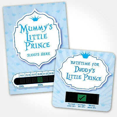 Baby Bath & Room Thermometer - Mummy And Daddys Little Prince Set
