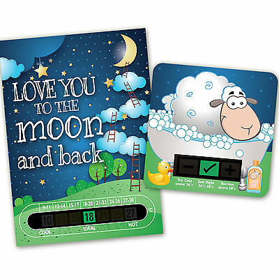 Love You To The Moon And Back Room Thermometer  & Sheep Bath Thermometer