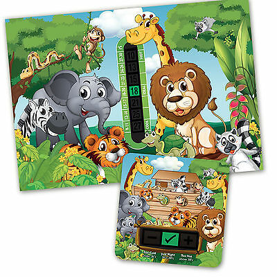 Jungle A5 Room Thermometer & Jungle Bath Thermometer Set