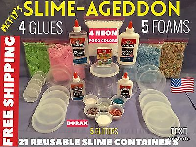 Elmer's School Glue Washable Slime Kit DYI GREAT BIRTHDAY GIFT