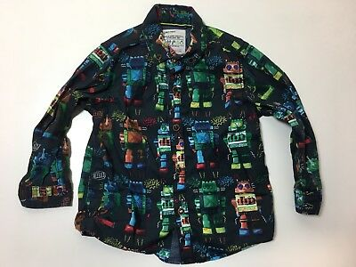 Boys 12-18m Christmas by Next Robot Shirt 100% Cotton - Excellent Condition
