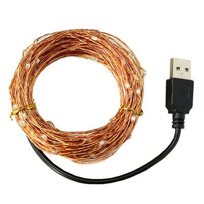 10M 100 LED USB Outdoor Copper Wire Lights String Wedding Party Christmas Decor