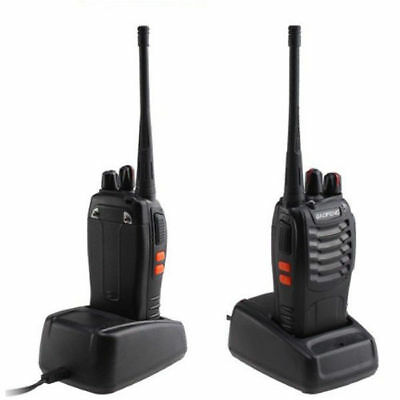 DHL! 2* Baofeng BF-888S +2*Headset UHF CTCSS/CDCSS Hand-Funkgerät Walkie-Talkie