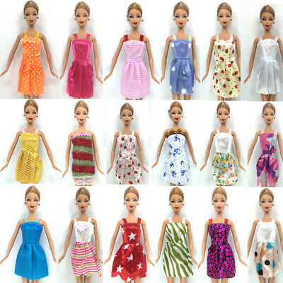 5Pcs Mix Handmade Party Clothes Fashion Dress For Barbie Doll Best Toys