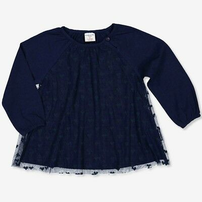 Polarn O. Pyret Girls,  Heart Lace Overlay Baby Top - Was £16.00