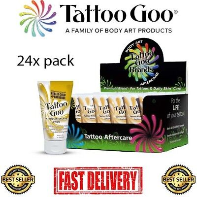 Tattoo Goo Aftercare Lotion 24 PACK- 24x2oz with Healix Gold and Panthenol