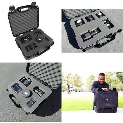 Rugged Video Equipment Hard Case Bag For DSLR Camera Camcorder Nikon Canon Sony