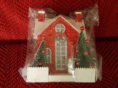 Pottery Barn Kids Red Glitter House  NWT
