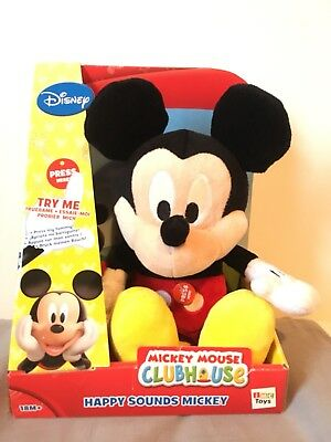 BNIB Disney Junior Happy Sounds Mickey Mouse Clubhouse Soft Toy Doll Gift