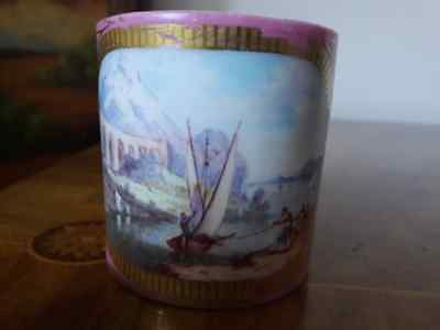 Sevres Vincennes porcelain coffee can cup hand decorated 1755-1756