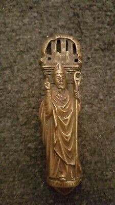 vintage brass York Minister/ bishop/ holy man door knocker