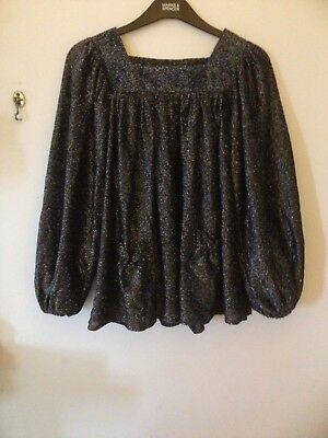ORIGINAL VINTAGE SPARKLY LUREX PARTY TOP FOR XMAS SIZE 10 BUST 34 Ins.