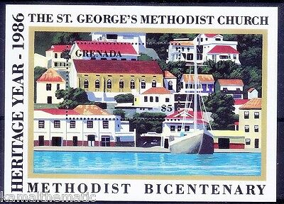 St. George Methodist Church, Heritage Year 1986, Ships, Grenada MNH SS