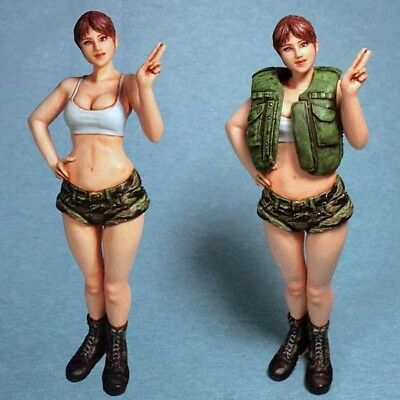 Resin Figure Kit 1/20 Military Girl Vietnam War version Model Kit
