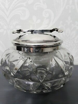 Sugar Bowl with Articulated Tongs. Vintage Silver Plated Pascall's Patents'