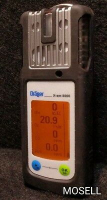 Draeger X-am 5000 Gas Detector O2 CO H2S LEL Calibrated Warranty